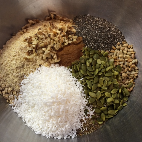 """dry ingredients for """"so good granola"""""""
