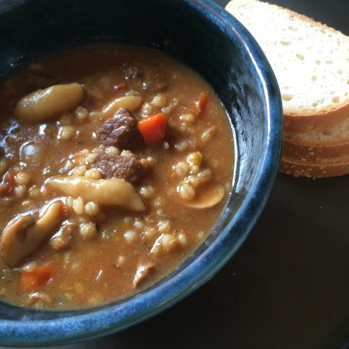 Rainy Ray Beef and Barley Soup by loopylocks