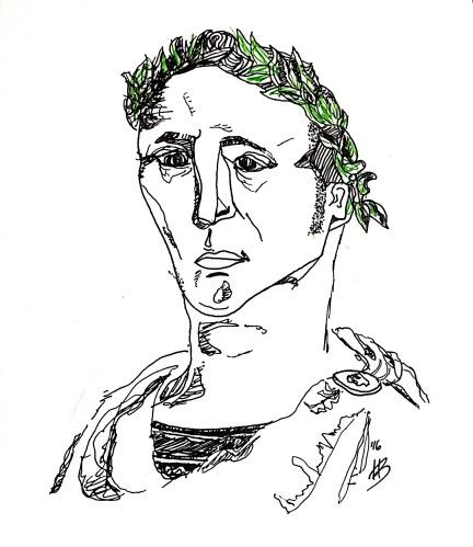 Drawing of Julius Caesar by Hannah Bursey