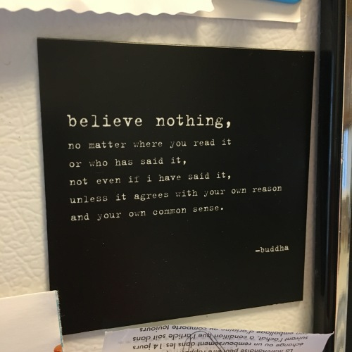 believe nothing quote by Buddha