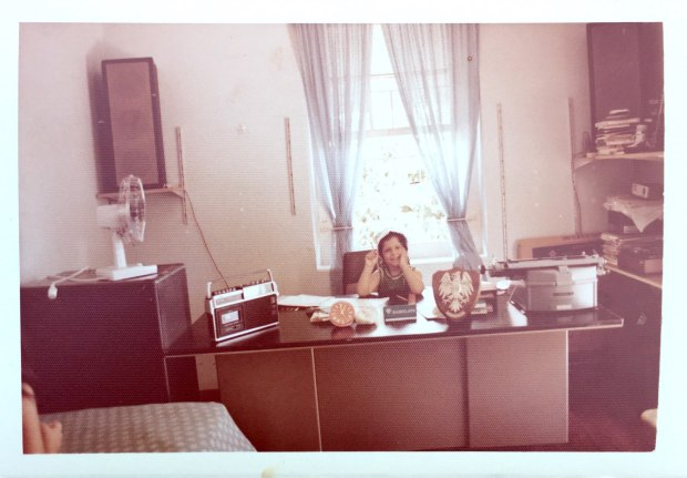 Me sitting at Papa's desk as a child by loopylocks